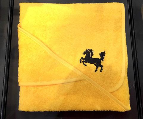Handtuch mit dem Stadtwappen, das jedes in Stuttgart geborene Kind erhält.
