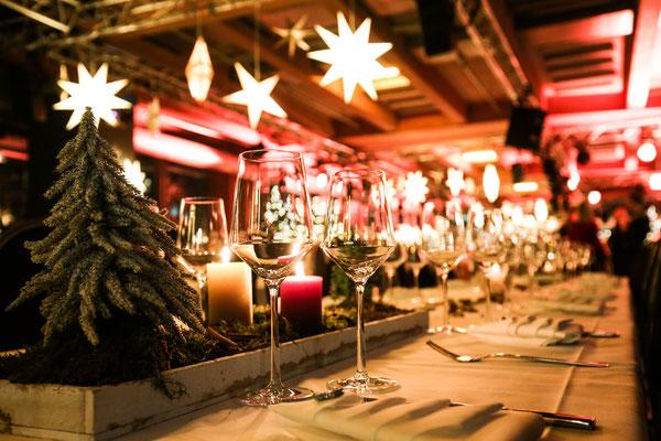 Weihnachtsfeier Deko - bo events