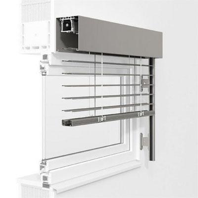 ROMA Raffstore - VORBAUSYSTEM Freitragendes System