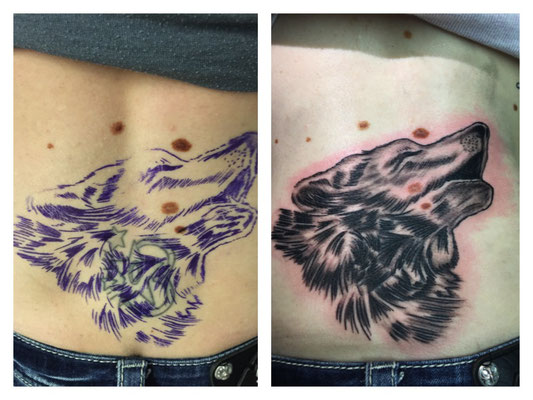 Cover-Up-Tattoo Wolf
