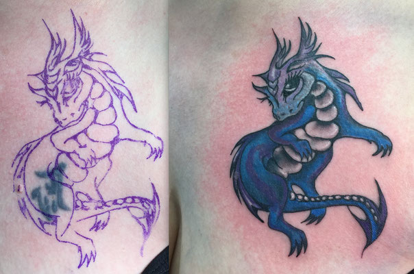 Cover-Up-Tattoo Phantasy Pferd
