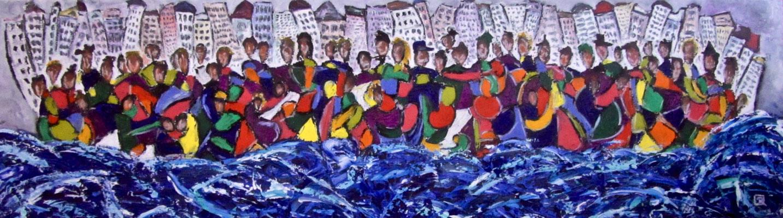 Together VI 150 x 50 cm verkauft