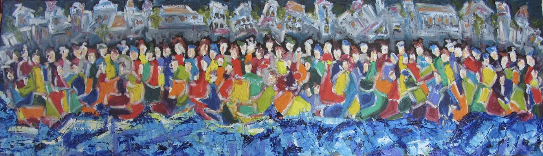 Together XVII 100 x 30 cm