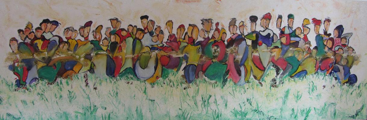 Together VII 120 x 40 cm verkauft