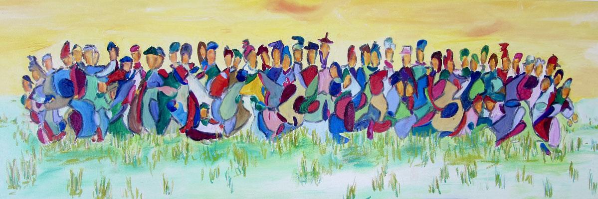 Together XIX 120 x 40 cm verkauft
