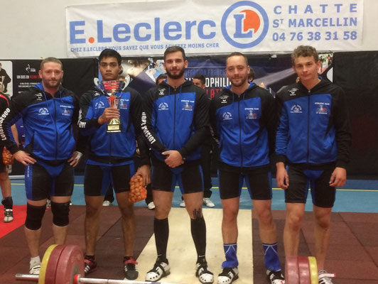 L'équipe masculine de Saint Marcellin