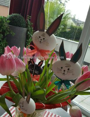 Die Ohren sind aus Farbkarton Savanne von Stampin`Up!