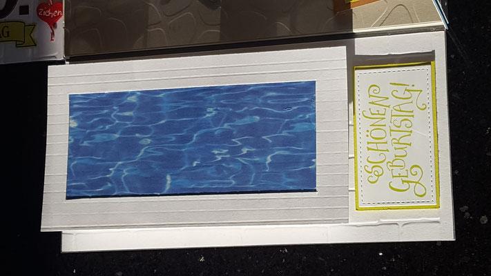 Schwimmbadbox ca. 9x7 cm mit abnehmbarem Deckel...