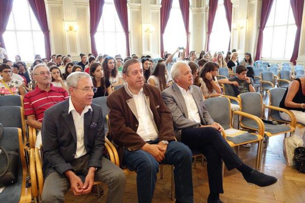 Bgm. Hans Peter Schlagholz, Dir. Herbert Eile - Education Lavanttal, Bgm. Hermann Primus - Vorsitzender Schulgemeindeverband