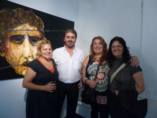 Mónica Ibañez, Néstor Favre, Mab Cabral e Isabel Landry