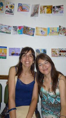 Marion Jüül y Nidia Peralta