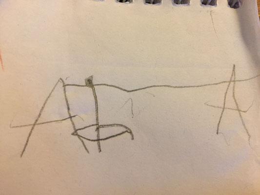 Charlie hat mal eine Seilbahn für den Kollwitz-Platz entworfen und