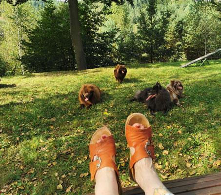 Zeit zum Füße hoch legen und genießen.