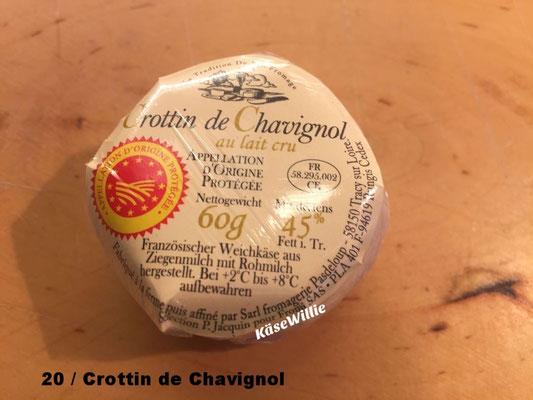Crotin de Chavignol, Ziegen Rohmilch, Brotaufstrich mit Pepperoni aus den Niederlande