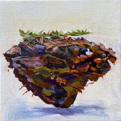 Dirt Clod 3, Oil on Canvas 2021