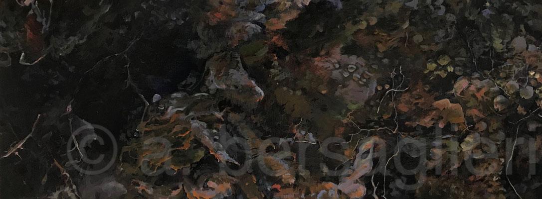 "Summer Dirt, Oil on Canvas 18"" x 48"" 2019"