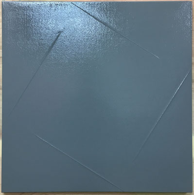 "ウルトラ・グレーno.1  ""ULTRA, gray no.1"" 650x650mm, oil on canvas, 2018"