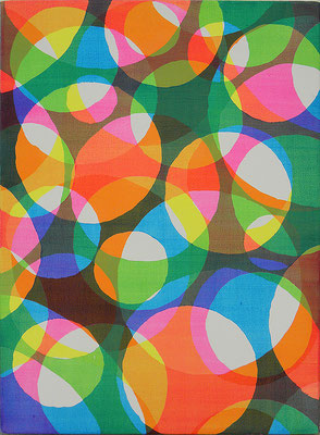"うきたま  ""float ball"" 333×242mm, acrylic, watercolor on canvas, 2013"