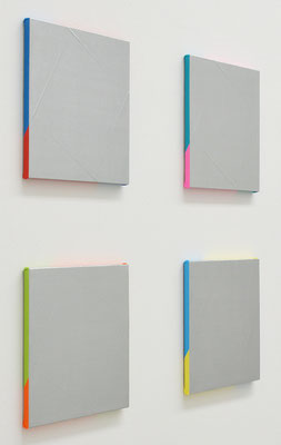 "ウルトラ  ULTRA"" 410×410mm(each), Set of 4, oil on canvas, 2016"