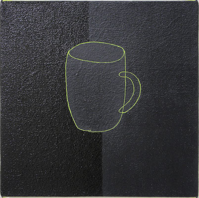 "カップ  ""cup"" 273x273mm, oil on canvas, 2013, Private Collection"