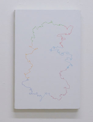 "ひとつづき  ""link""  oil, gesso on canvas, 333×242mm, 2011"