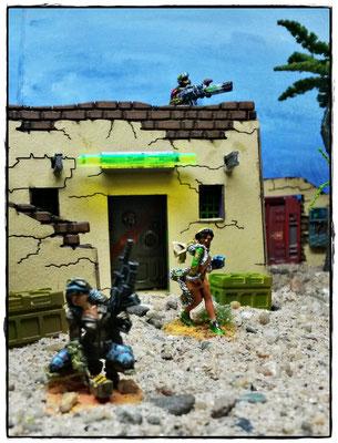 Hunzakut, Tariqa und auf dem Dach ein Azrail