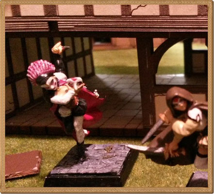 Die Harlequin überrumpelt zusammen mit der Spada ein ahnungsloses Opfer
