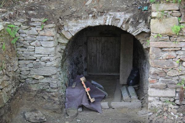 Kellereingang kurz vor Fertigstellung 2015