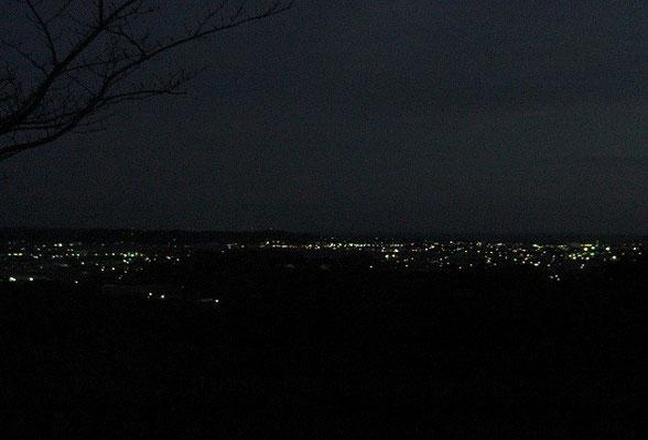 馬場平から望む大坂(旧大東)遠州灘方面の夜景