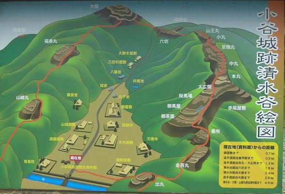 小谷城俯瞰図