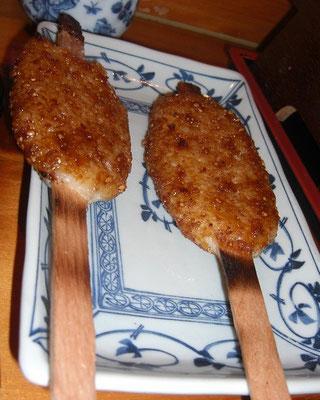 五平餅 タレは甘辛でうまい