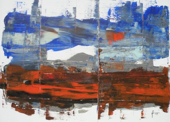 11-4-2017, Acryl auf Leinwand, 100 x 75 cm, 2017