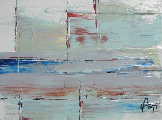 4-2-2017, Acryl auf Leinwand, 18 x 24 cm, 2017