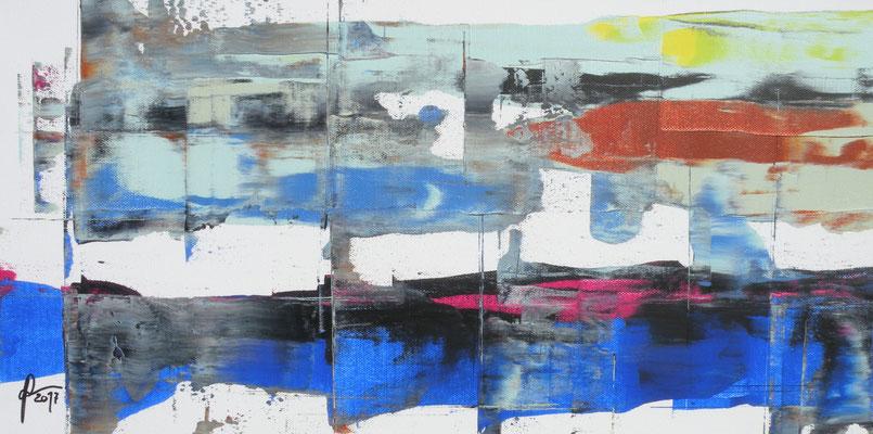 11-1-2017, Acryl auf Leinwand, 60 x 30 cm, 2017