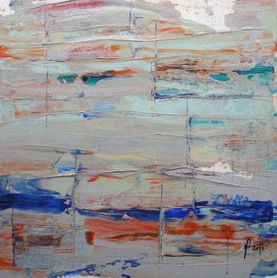 6-2-2017, Mischtechnik auf Leinwand, 40 x 40 cm, 2017