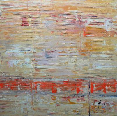 7-1-2017, Mischtechnik auf Holz, 50 x 50 cm, 2017
