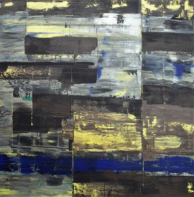 4-1-2018, Acryl auf Leinwand, 100 x 100 cm, 2018
