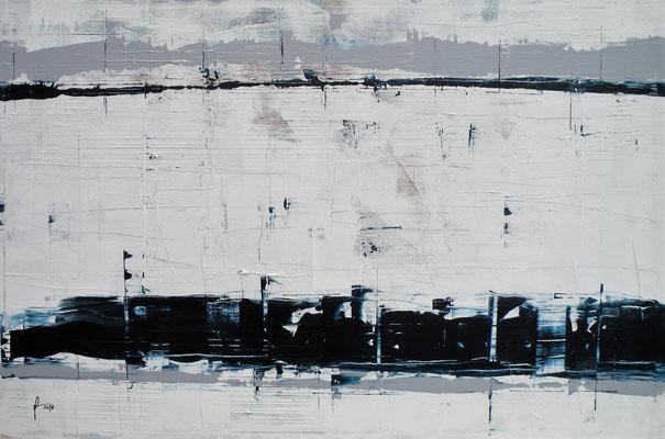 3-1-2018, Acryl auf Leinwand, 120 x 80 cm, 2018