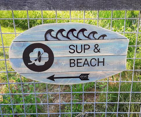 naambord wegwijzer sup&beach