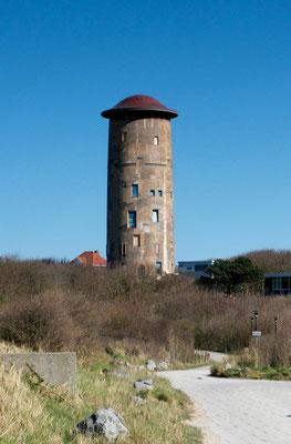 Ein markantes Gebäude am Ende des Weges - der Wasserturm