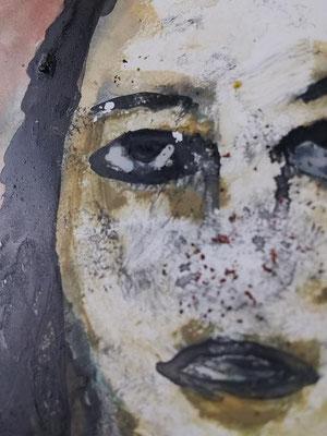 """Woman""20x30 cm Acryl on Paper"