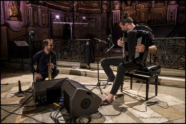 Emile Parisien, Vincent Peirani, Labyrinthe Musical en Rouergue, 14/08/2018