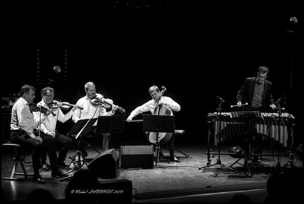 Quatuor Debussy, Franck Tortiller; Astrada Marciac 27/07/2018