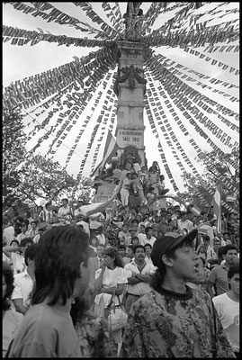 Partisans du Président Christiani le 6 janvier 1992