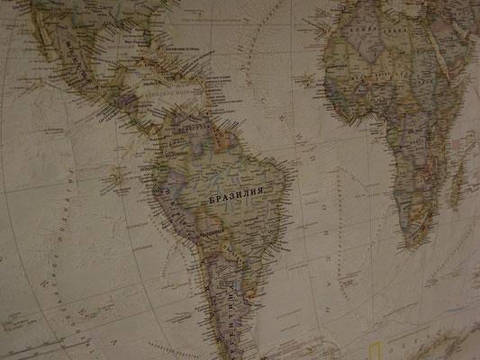 """Офис """"Исследовательские Экспедиции"""". Карта мира"""