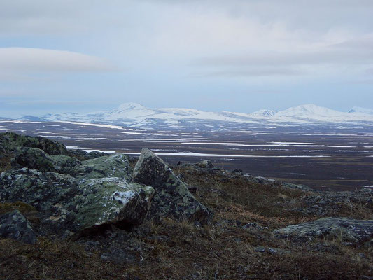 Вид с вершины Константинова Камня - самой северной вершины Полярного Урала.