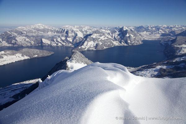 Auf dem Buochserhorn mit Blick auf den Vierwaldstättersee, Nidwalden