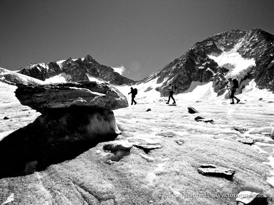 Gletschertisch auf dem Fieschergletscher, Wallis