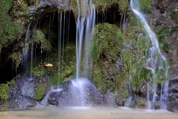Wasserfall in der Gemeinde Neuenkirch, Luzern, Schweiz