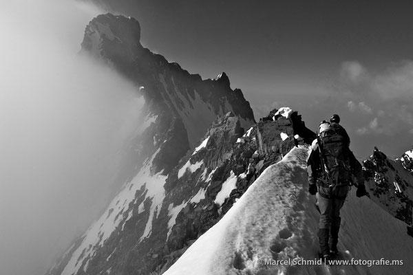 Der Piz Bernina, 4048 m.ü.M., Graubünden